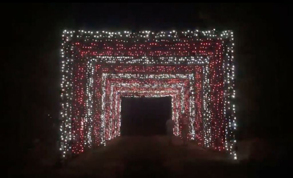 Multi-sensory LED light tunnel