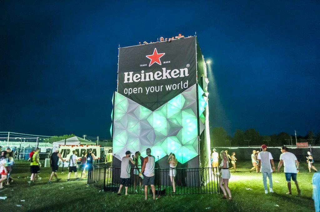 Heineken Tower at Festival