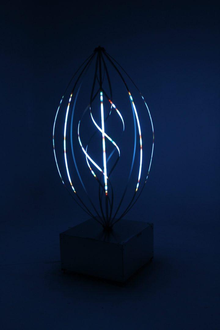 Aurora Helix Lightly Glowing Dark Blue