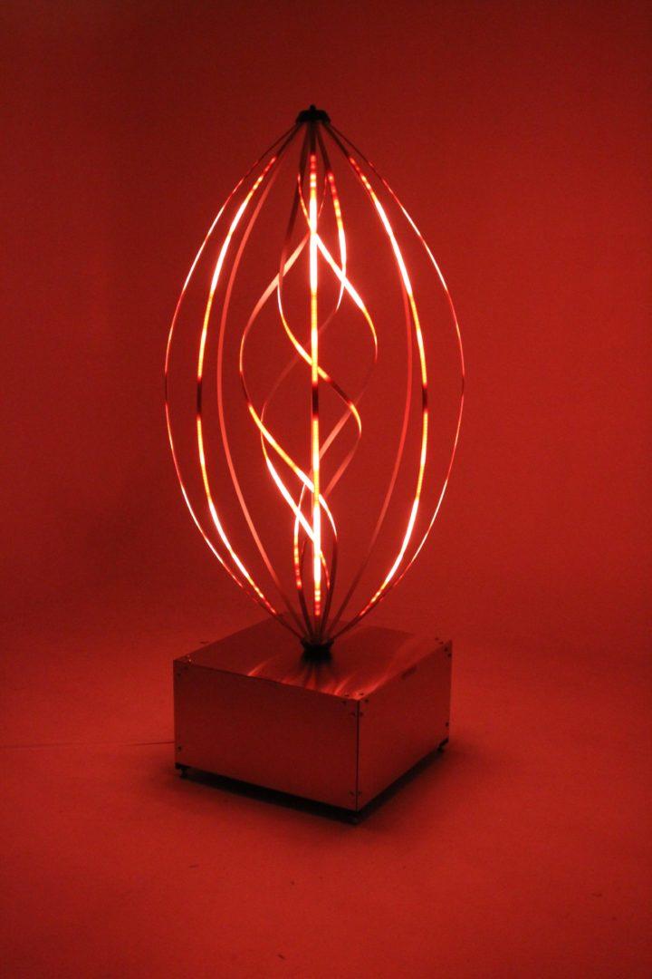 Aurora Helix Glowing Red