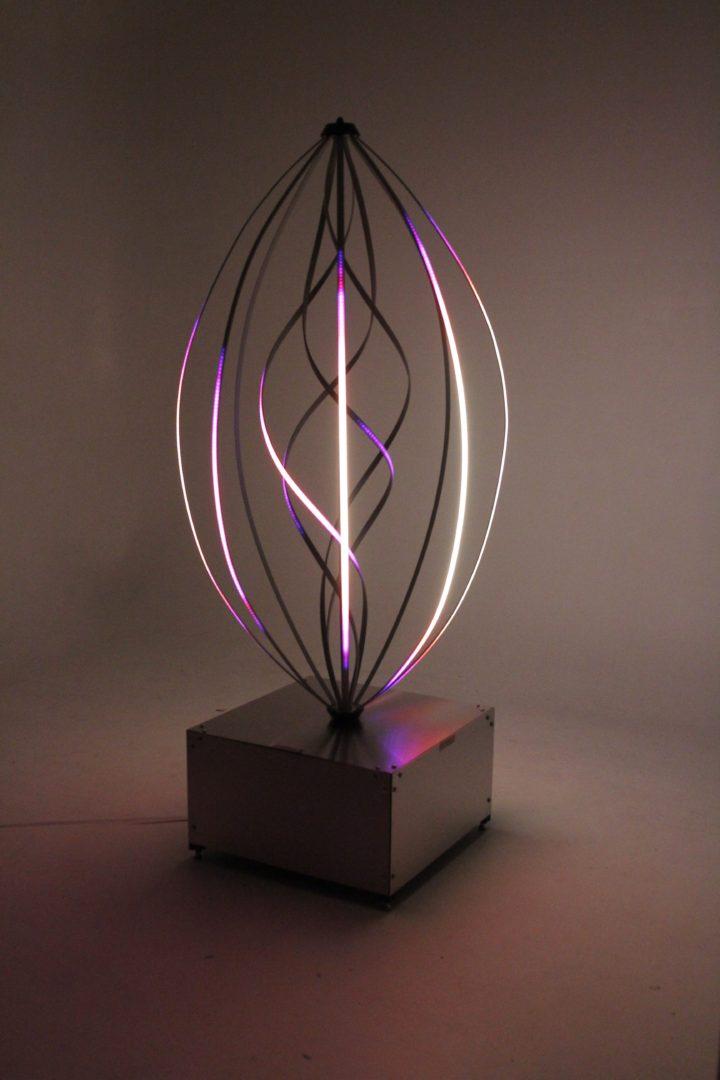 Aurora Helix Glowing White and Purple