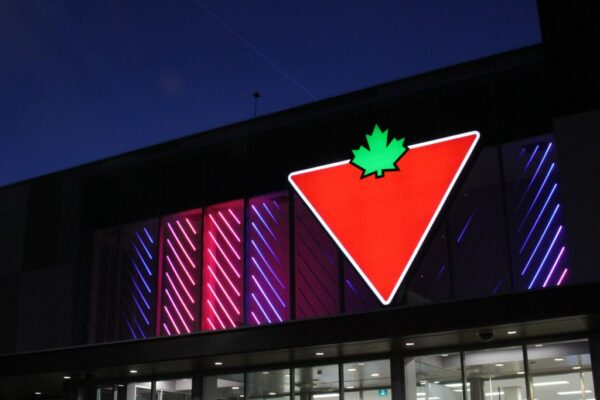 Canadian Tire Sign Victoria BC