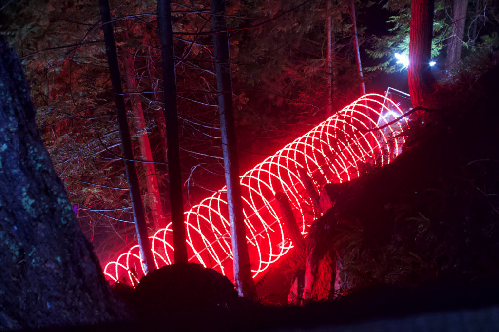 Red Tunnel Portal In the Forest
